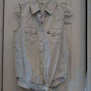 Nwt Levi's denim top